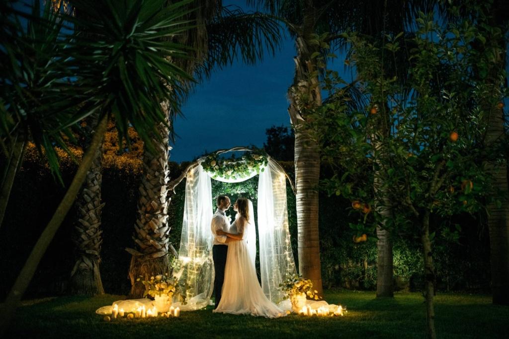 garden wedding etna