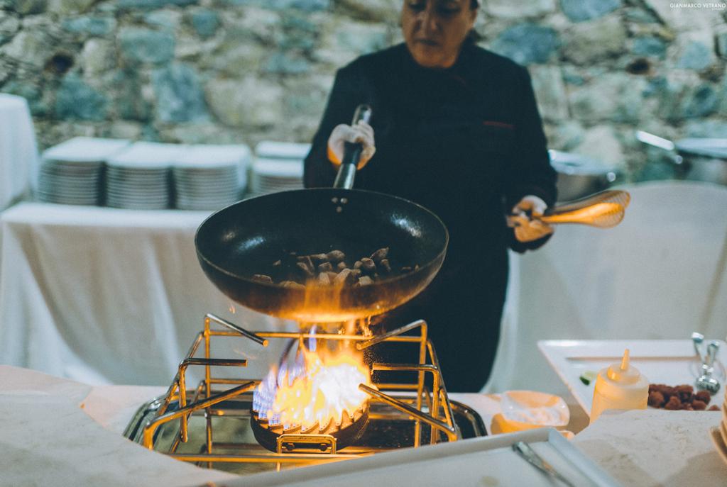 кулинарное шоу на свадьбе италия